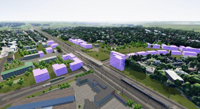 3 D malli Oulunkylän keskusta