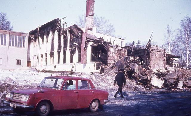 Åggelby Svenska Samskola i ruiner